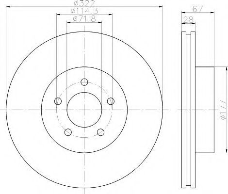 Тормозной диск HELLA 8DD355119981