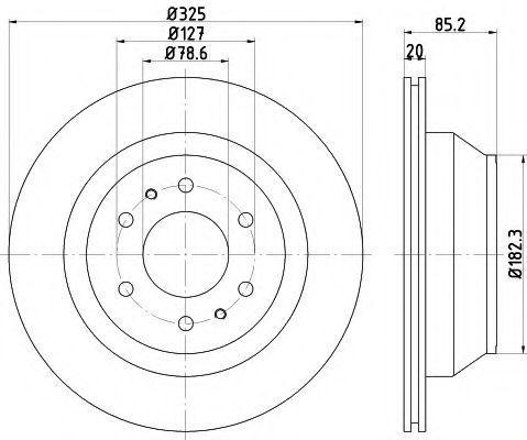 Тормозной диск HELLA 8DD355122311