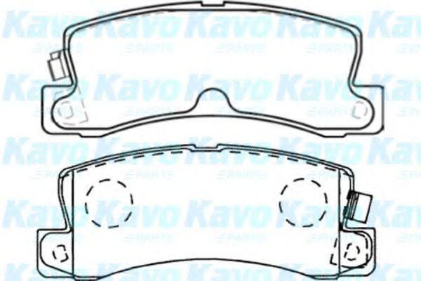 Колодки тормозные KAVO PARTS BP9059