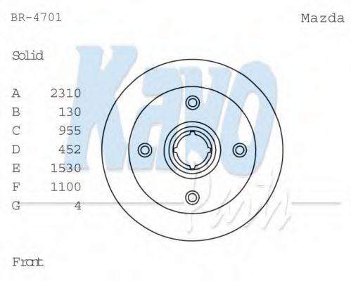 Тормозной диск KAVO PARTS BR4701
