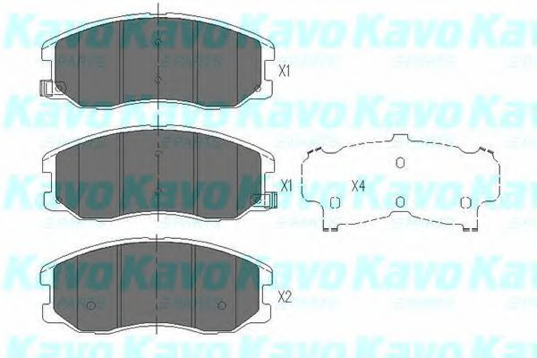Колодки гальмівні KAVO PARTS KBP-1009