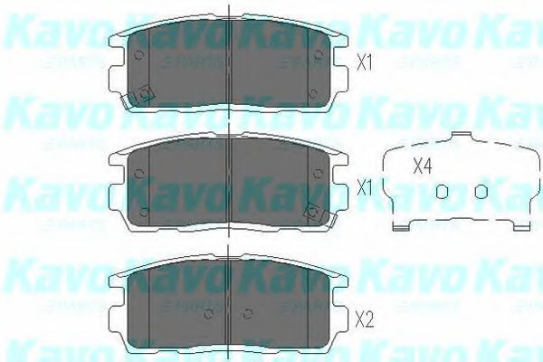 Колодки тормозные KAVO PARTS KBP-1010