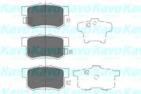 Колодки тормозные KAVO PARTS KBP-2008