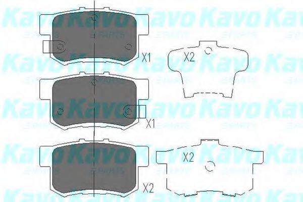Колодки тормозные KAVO PARTS KBP-2009