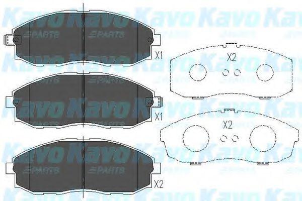 Колодки тормозные KAVO PARTS KBP3003