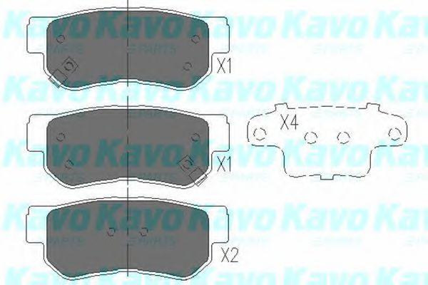Колодки тормозные KAVO PARTS KBP3005