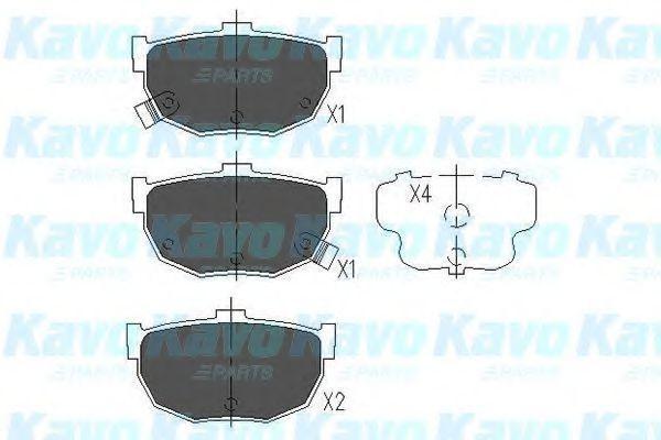 Колодки тормозные KAVO PARTS KBP3007