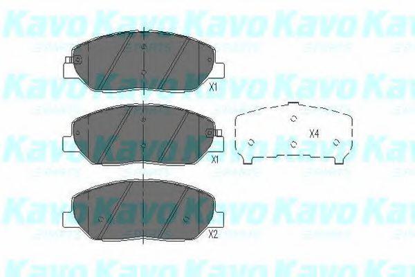 Колодки тормозные KAVO PARTS KBP3023