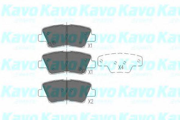 Колодки тормозные KAVO PARTS KBP3025
