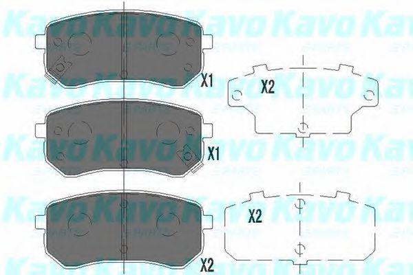 Колодки тормозные KAVO PARTS KBP-4005