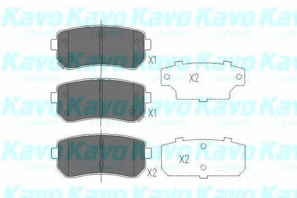Колодки тормозные KAVO PARTS KBP-4007