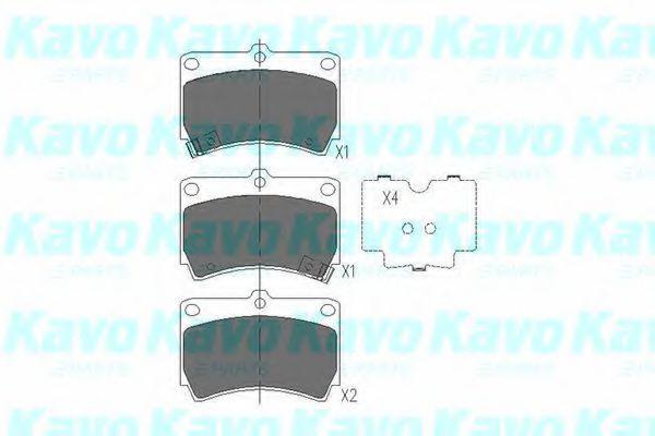Колодки тормозные KAVO PARTS KBP4501