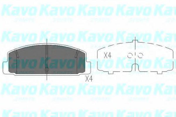 Колодки тормозные KAVO PARTS KBP4506