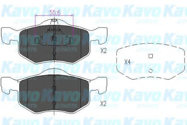 Колодки тормозные KAVO PARTS KBP4541