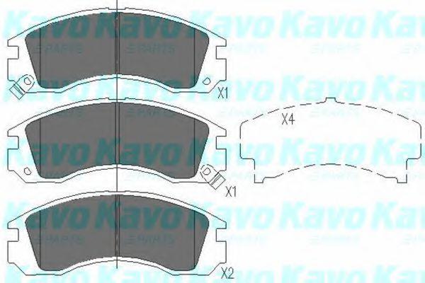Колодки тормозные KAVO PARTS KBP5503