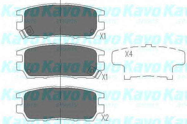 Колодки тормозные KAVO PARTS KBP5504