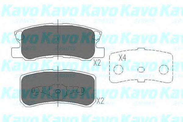 Колодки тормозные KAVO PARTS KBP-5515