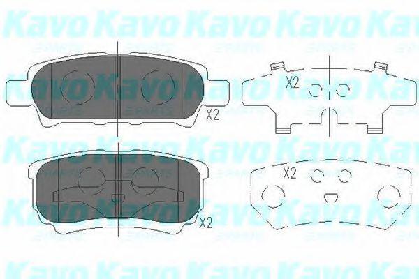 Колодки тормозные KAVO PARTS KBP5518