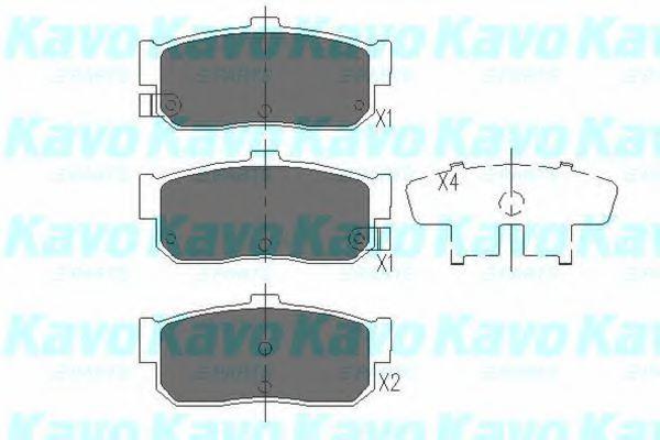 Колодки тормозные KAVO PARTS KBP6512
