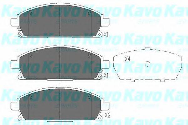Колодки тормозные KAVO PARTS KBP6515
