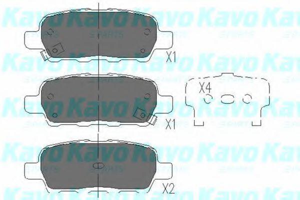 Колодки тормозные KAVO PARTS KBP-6517