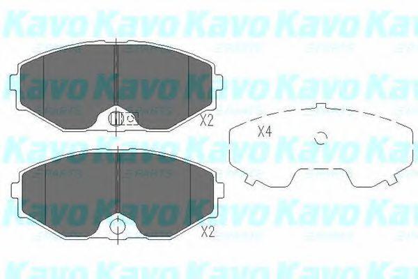 Колодки тормозные KAVO PARTS KBP6553