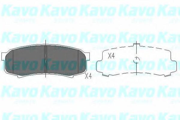 Колодки тормозные KAVO PARTS KBP-9007