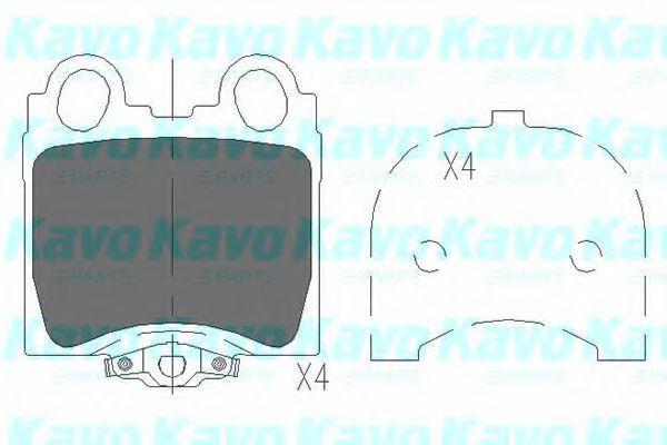 Колодки тормозные KAVO PARTS KBP-9066