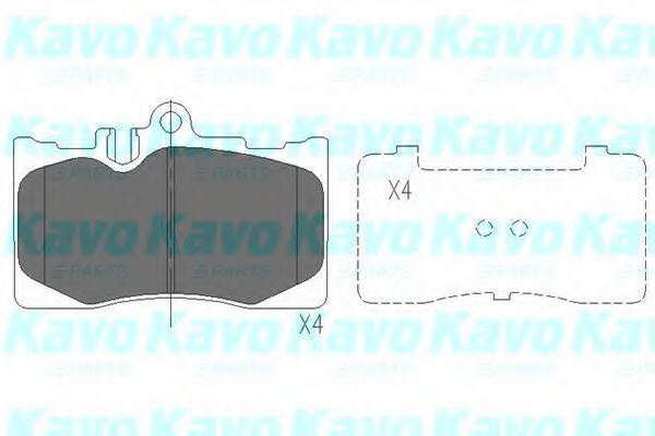 Колодки тормозные KAVO PARTS KBP9071