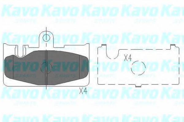 Колодки тормозные KAVO PARTS KBP9073