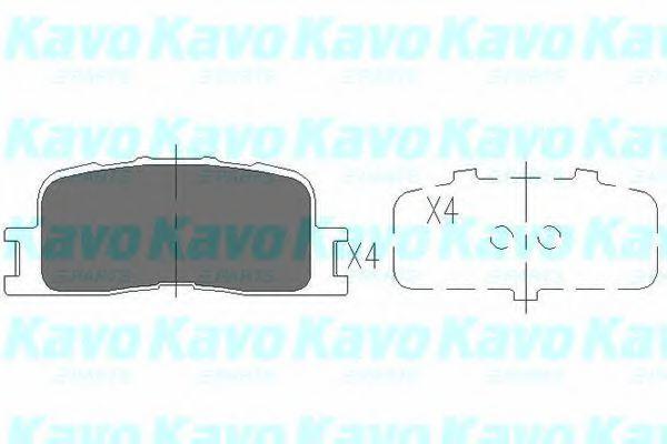 Колодки тормозные KAVO PARTS KBP9077