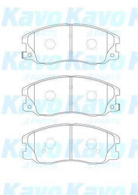 Комплект тормозных колодок, дисковый тормоз KAVO PARTS BP1012