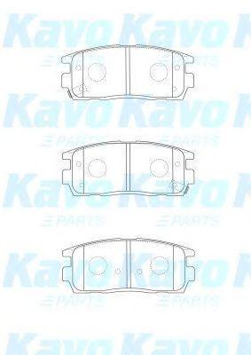 Комплект тормозных колодок, дисковый тормоз KAVO PARTS BP1013