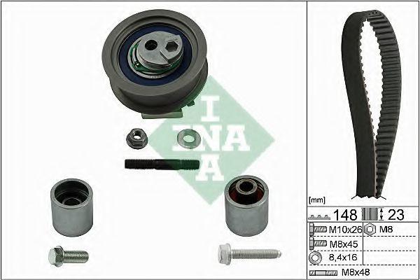 Изображение Ремкомплект ремня ГРМ INA 530 0445 10: описание
