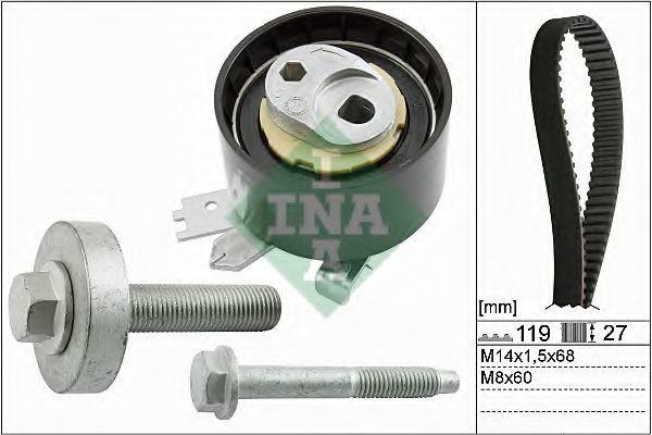 Ремкомплект ремня ГРМ INA 530060710