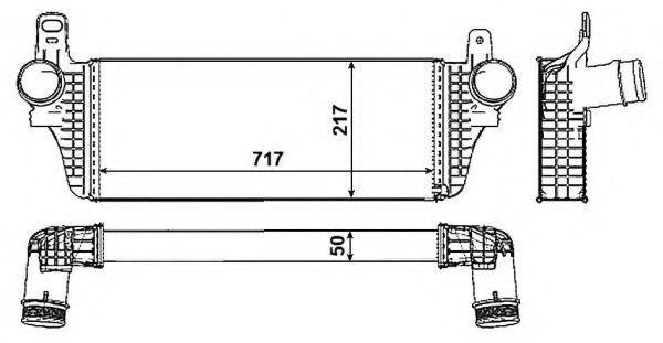 Купить Интеркулер наддува воздуха NRF 30466