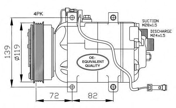 Опора двигателя NRF 32030