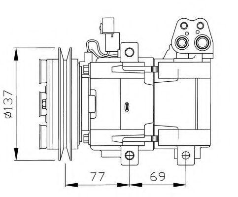 Компрессор кондиционера NRF 32115G