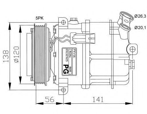 Компрессор кондиционера NRF 32117G