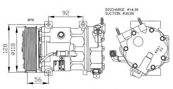 Компрессор кондиционера NRF 32240G