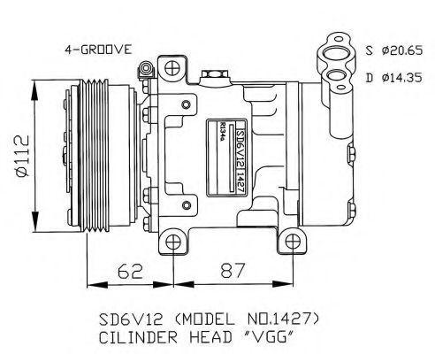 Компрессор кондиционера NRF 32253G