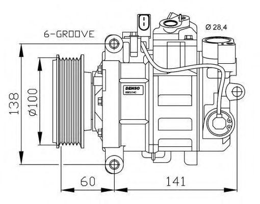 Компрессор кондиционера NRF 32263G