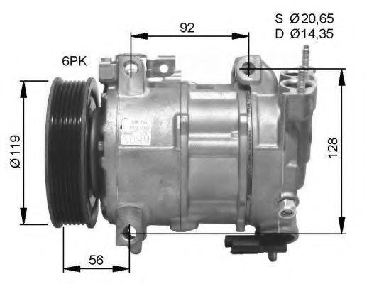 Компрессор кондиционера NRF 32593G