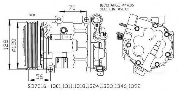 Компрессор кондиционера NRF 32682G
