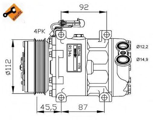 Компрессор кондиционера NRF 32701G