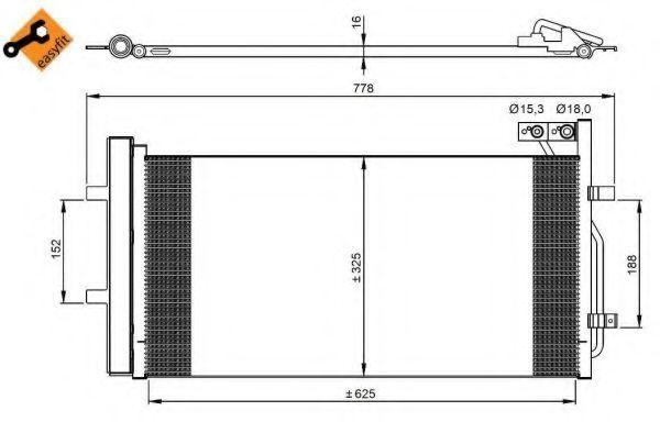 Радиатор кондиционера NRF 350029