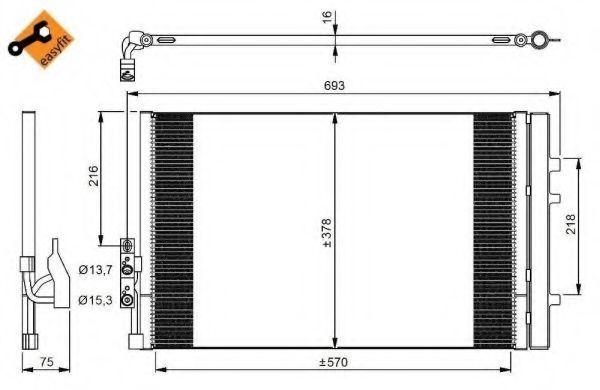 Радиатор кондиционера NRF 350036