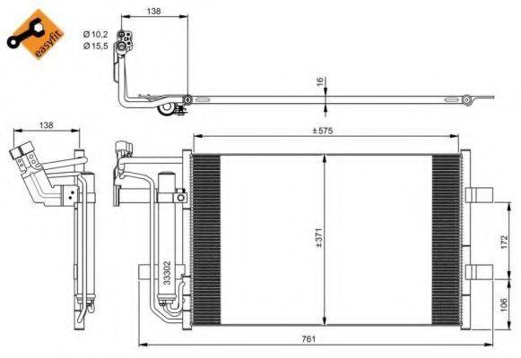 Радиатор кондиционера NRF 350039