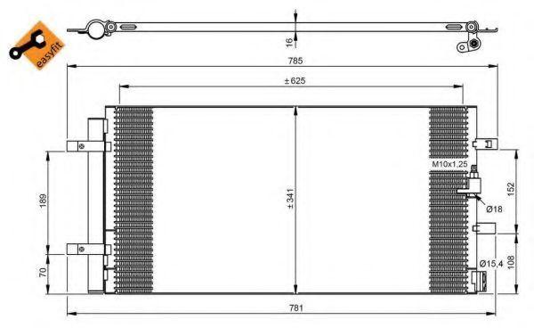 Радиатор кондиционера NRF 350046