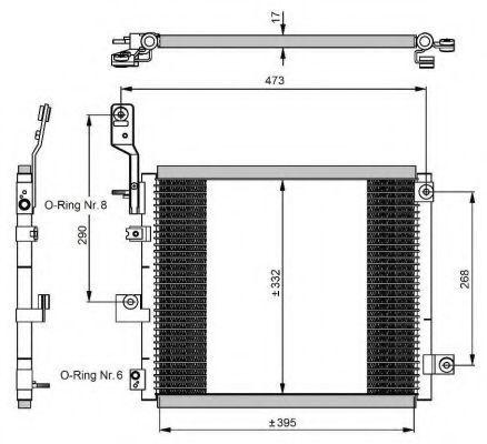Радиатор кондиционера NRF 350047